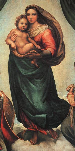 Описание картины Рафаэля Санти Святое семейство Мадонна
