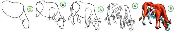 Учимся рисовать коров