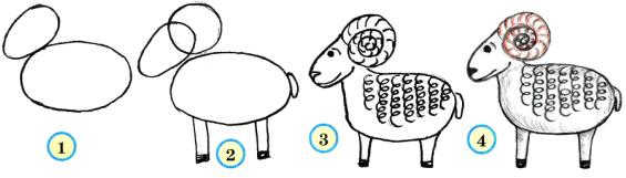Рисунки схемы животные